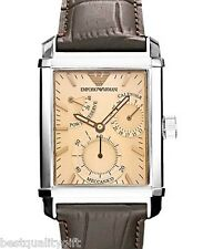 EMPORIO ARMANI BROWN CROC LEATHER AUTOMATIC MECCANICO MEN WATCH-AR4236