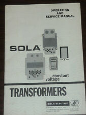 Sola Electric Constant Voltage Transformers Operating and Service Manual_538