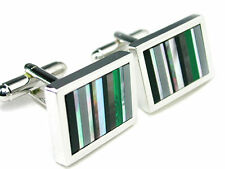 Mother of Pearl & Stones Cuff Links cufflinks #C-74