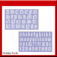 Buchstaben-Schablone 3 cm Old English Buchstabenschablonen Schrift Alphabet Alte