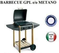 BARBECUE PIASTRA A GAS EUROWOODY 285 GPL METANO COTTURA PIETRA LAVICA MADE ITALY
