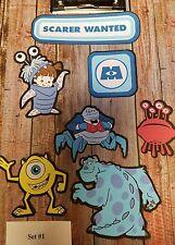 Disney's Monsters Inc. LARGE 6 INCH  printed  die cut  set #1