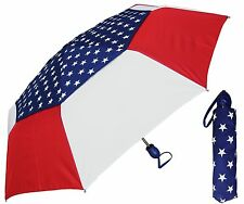 "44"" American Usa Flag Auto-Auto Mini Umbrella -RainStoppers Rain/Sun Uv Fashion"