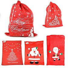 Christmas Santa Sack Red Felt Xmas Present Bag Traditional Gift Filler Bags