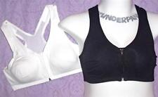 44 46 C D NEW Catherines black zipper HOORAY Wire Free plus size yoga sports bra