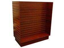 Cherry Wood Pressed Veneer 'H Shaped' Slat Wall Floor Standing Fixture Unit