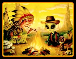 "4"" Ancient Alien Smokes Peyote vinyl sticker. Area 51, UFO decal for car, laptop"