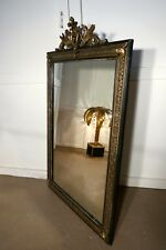 Large French Ebonised, Brass and Gilt Wall Mirror, Dragons and Crest