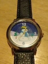 Vintage Fada Snowman Ladies watch, running with new battery/leather band L