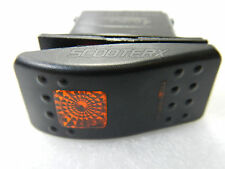 Orange 3 Position Rocker Switch 6 Pin Led Light 20 amp 12 volt Marine Boat Part