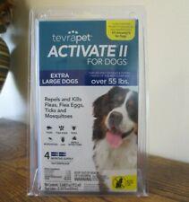 New! TevraPet Activate Ii Flea/Tick Prevention X-Lrg Dog (55+lbs) 4 Mths (0034)