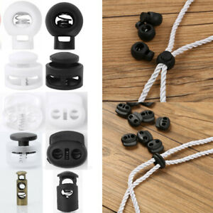 50 Cord Stopper Lock End Toggles Clip Clamp Drawstring Buckle Fastener w/Spring