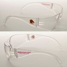 2 x Brisbane Broncos NRL Safety Eyewear Glasses Carbonate Work Protection CLEAR