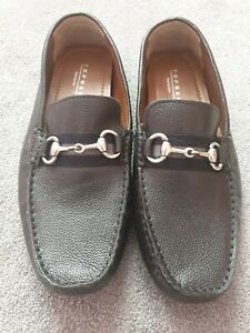 Brand New Mens Topman Black Loafers Size 10