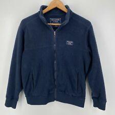 Abercrombie & Fitch Fleece Jacket Men's XS Navy Blue Full Zip A&F