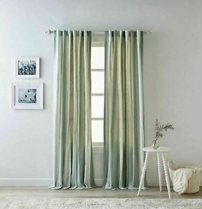 Bee & Willow™ Home Quincy 84-Inch Rod Pocket/Back TaB Curtain Panels PAIR Green