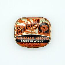 GRAMOPHONE NEEDLE TIN - Embassy - Radiogram Long Playing Needles [NEEDLE TIN]