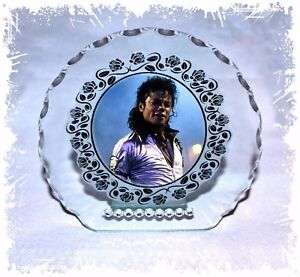 Michael Jackson photo Diamante round Plaque gift any occasion perfect keepsake