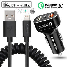 High-Performance Apple MFI Certified Lightning Car Charger Rapid charge- iPhones
