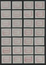 1984 ½d - 17p FRAMA LABELS U/MINT SET OF 37