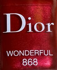 Dior nail polish 868 WONDERFUL limited edition