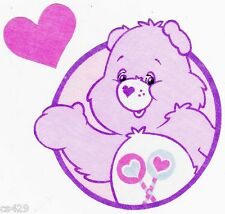 """5"""" CARE BEARS FRIEND BEAR CHARACTER NOVELTY FABRIC APPLIQUE IRON ON"""