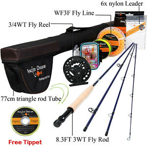 """8'4""""/9' 3 5 8WT Fly Fishing Rod With Fly Fishing Reel And Fly Line Combo+Tippet"""