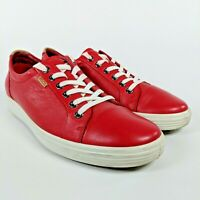 Women's Ecco Soft 7 Sneaker Tomato Red Leather Nubuck Shoe Size US 11/ EUR 42