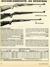 1976 Print Ad of Savage Anschutz Model 164, 54 Sporter & 184 Model 1432 Rifle