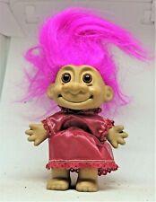 AFRICAN AMERICAN  RUSS TROLL Girl in Purple dress & Hair  Susie Created OOAK
