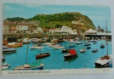 POSTCARD SCARBOROUGH YORKSHIRE HARBOUR AND CASTLE HILL BAMFORD UNPOSTED COLOUR