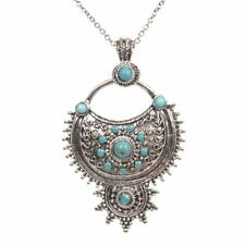 Turquoise Alloy Fashion Necklaces & Pendants