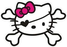 #18 Hello Kitty Pirate Skull Sticker Decal