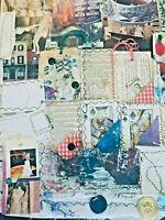 99+ VTG Buttons fabric Cards Snip-its Ephemera Paper Lot Labels Junk Journal Art
