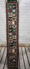 "Christmas Tapestry Table Runner Heartland Holiday Snowman Country Santa 72""x13"""