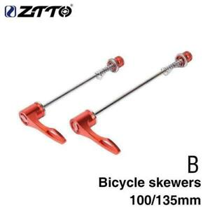 1Pair ZTTO MTB Road Bike Bicycle Screw 9mm5mm Quick Reliable Axle Skewer E5Z1