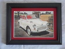 Morris Minor 1000 Convertible Stunning Framed & Mounted Postcard **Offers**