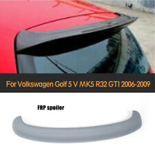 Unpainted Gray Rear Roof Spoiler Wing Lip Fit for VW Golf 5 MK5 R32 GTI 06-09