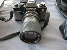 CAMARA CONTAX 139 Quartz analógica funda reflex body + 3 objetivos
