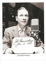 John Cameron Swayze Autograph News Anchor NBC ABC Game Show Panelist #2