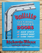 Rolltite Garage Doors, advertising catalog home hardware building construction
