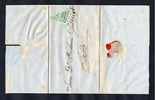 URUGUAY CLASSIC #31 BISECTED TRIANGLE HORSE ON COVER  MONTEVIDEO SALTO