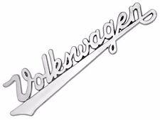 VW BUG VINTAGE EMBLEM REAR HOOD Nameplate BEETLE Script Written Logo Style T1 T2