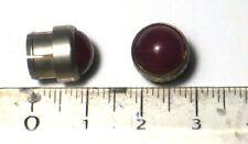 10 mini cabochons rouges pour tableau montage en force dans perçage 8,5 mm NOS