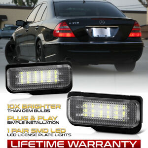 [FULL LED] License Plate Lights Replacement Lamps Pair W211 W219 R171+W203 Wagon