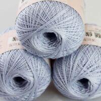 Sale 3 BallsX50gr Cotton Crochet Thread Yarn Craft Tatting Knit Embroidery 20