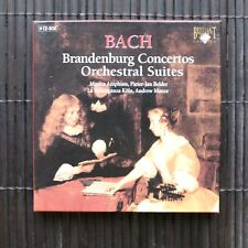 BRANDENBURG CONCERTOS ORCHESTRAL SUITES - BACH  - 4 CD-BOX