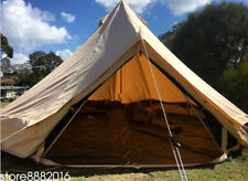 5M Canvas Bell Tent Waterproof Family Yurt Outdoor Glamping Camping Yurt