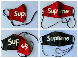 Reversible Supreme Adjustable Red Black Face Mask Nano-Polyester Anti-Microbial