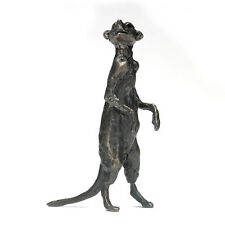 Bronze Meerkat Sculpture: Meerkat Ginger by Jonathan Sanders